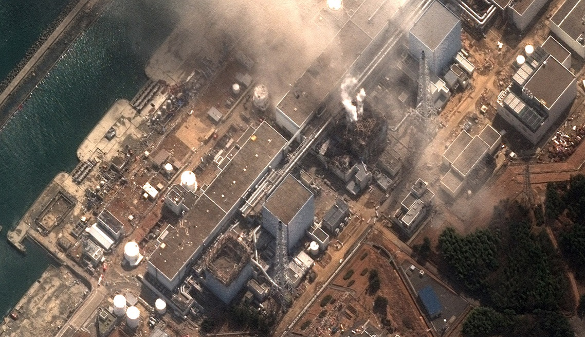 Earthquake and Tsunami damage, Japan-March 14, 2011: This is a satellite image of Japan showing damage after an Earthquake and Tsunami at the Dai Ichi Power Plant, Japan. (credit: DigitalGlobe) www.digitalglobe.com